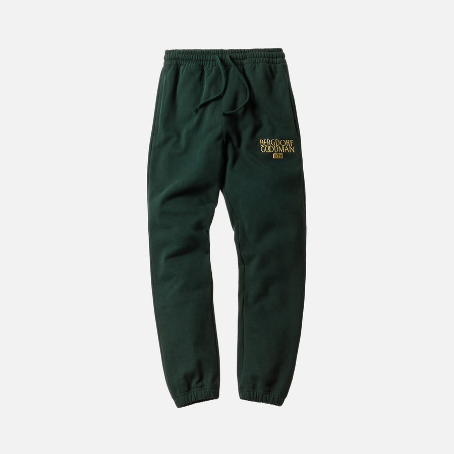 Kith x Bergdorf Goodman Williams Sweatpant - Forest Green