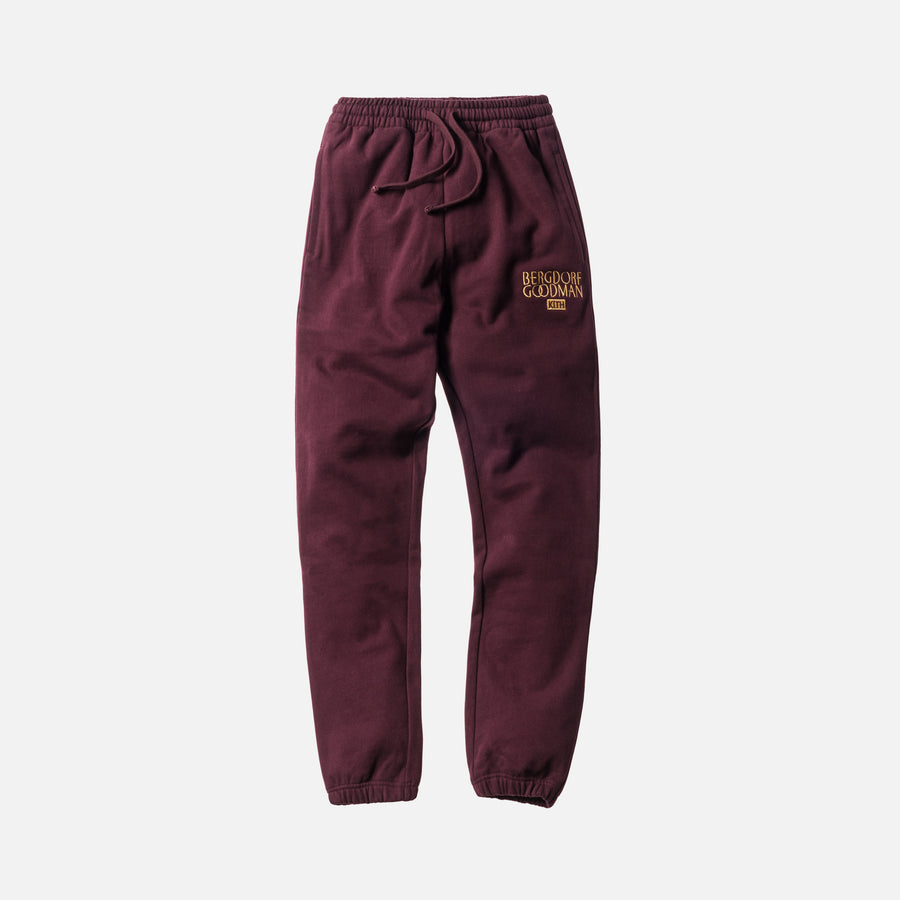 Kith x Bergdorf Goodman Williams Sweatpant - Burgundy