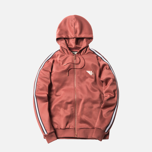 Kith Hooded Track Jacket - Brickdust