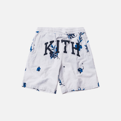 Kith Floral Seersucker Hardaway Short - Grey / White