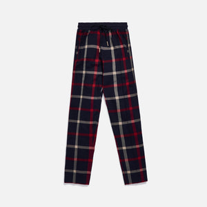Kith for Bergdorf Goodman Roger Track Pant - Navy / Red Plaid Image 1