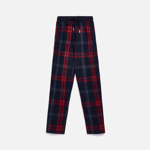 Kith for Bergdorf Goodman Lewis Track Pant - Navy / Blue Plaid