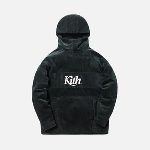 Kith Corduroy Double Pocket Hoodie - Forest Green