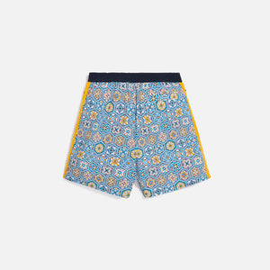 Kith Printed Shorts w/ Side Panel - Blue / Mutli Image 3