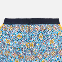 Kith Printed Shorts w/ Side Panel - Blue / Mutli Thumbnail 1