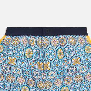 Kith Printed Shorts w/ Side Panel - Blue / Mutli Image 7