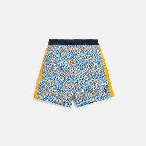 Kith Printed Shorts w/ Side Panel - Blue / Mutli Image 1