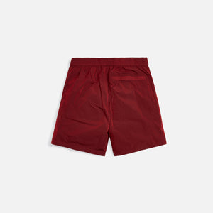 Kith Solid Sporty Wrinkle Short - Red Dahlia