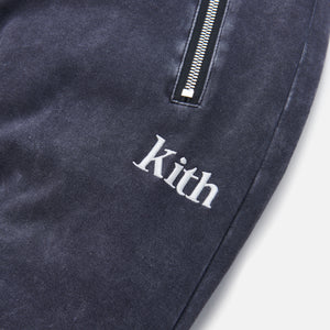 Kith Bleecker Crystal Wash Sweatpant - Moonless Night Image 4