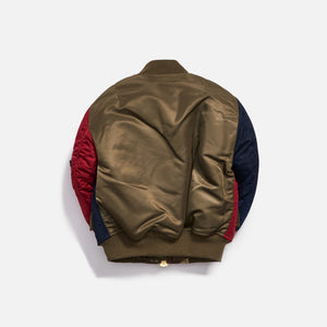 Kith Kids x Alpha Industries Youth MA-1 Bomber Jacket - Navy / Red Image 2