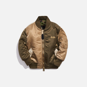 Kith Kids x Alpha Industries Toddler MA-1 Bomber Jacket - Olive / Beige Image 1