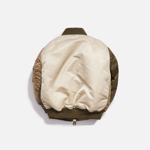 Kith Kids x Alpha Industries Toddler MA-1 Bomber Jacket - Olive / Beige Image 2
