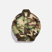Kith Kids x Alpha Industries Toddler MA-1 Bomber Jacket - Olive / Beige Thumbnail 1