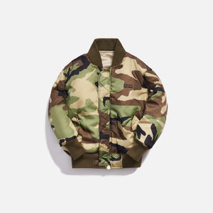 Kith Kids x Alpha Industries Toddler MA-1 Bomber Jacket - Olive / Beige Image 3