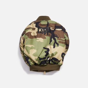 Kith Kids x Alpha Industries Toddler MA-1 Bomber Jacket - Olive / Beige Image 4
