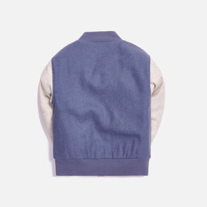Kith Kids Blocked Varsity Jacket - Navy / Multi Image 2