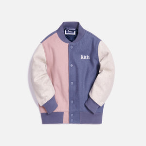 Kith Kids Blocked Varsity Jacket - Navy / Multi Image 1