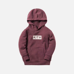 Kith Kids Classic Logo Williams Hoodie - Plum