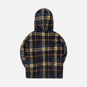 Kith Kids Harrison Plaid Pullover - Navy / Yellow Plaid