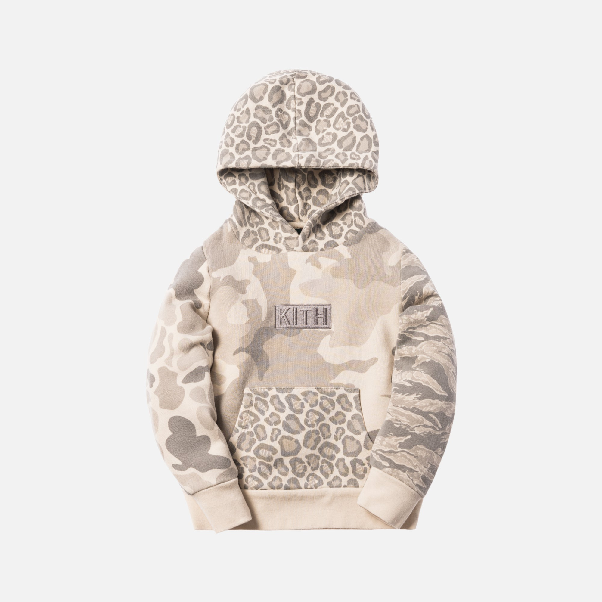 Kith Kids Camo Blocked Pullover - Off Beige