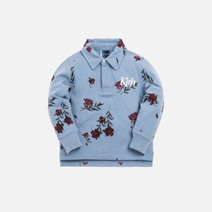Kith Kids Floral Rugby - Ashley Blue