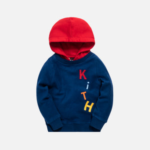 Kith Kids Reverse Williams Hoodie - Estate Blue