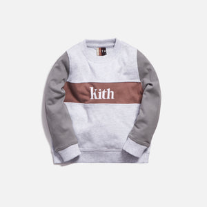 Kith Kids Blocked Crewneck - Heather Grey Image 1