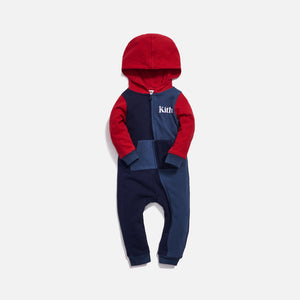 Kith Kids Baby Blocked Coverall - Blue Multi