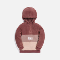 Kith Kids Blocked Faux Sherpa Harrison - Mauve / Multi Thumbnail 1