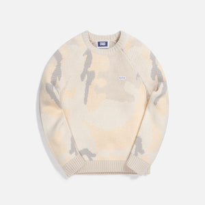 Kith Kids Camo Sweater - Beige / Multi