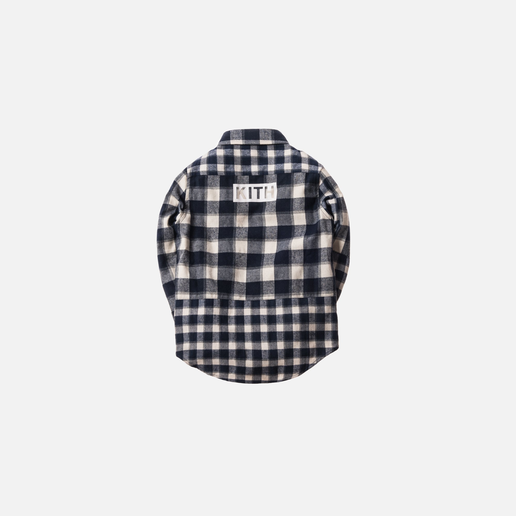 f7425cc615652 Kith Kids Mixed Plaid Ginza Button-Up - Navy