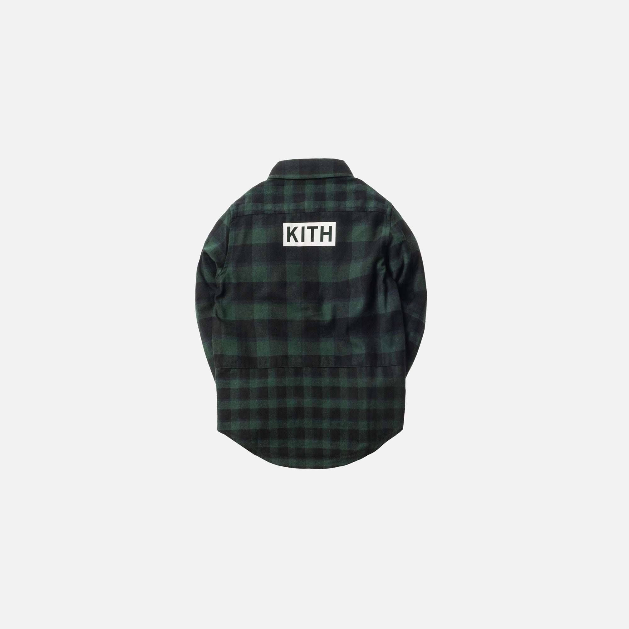 Kidset Mixed Plaid Ginza Button-Up - Green