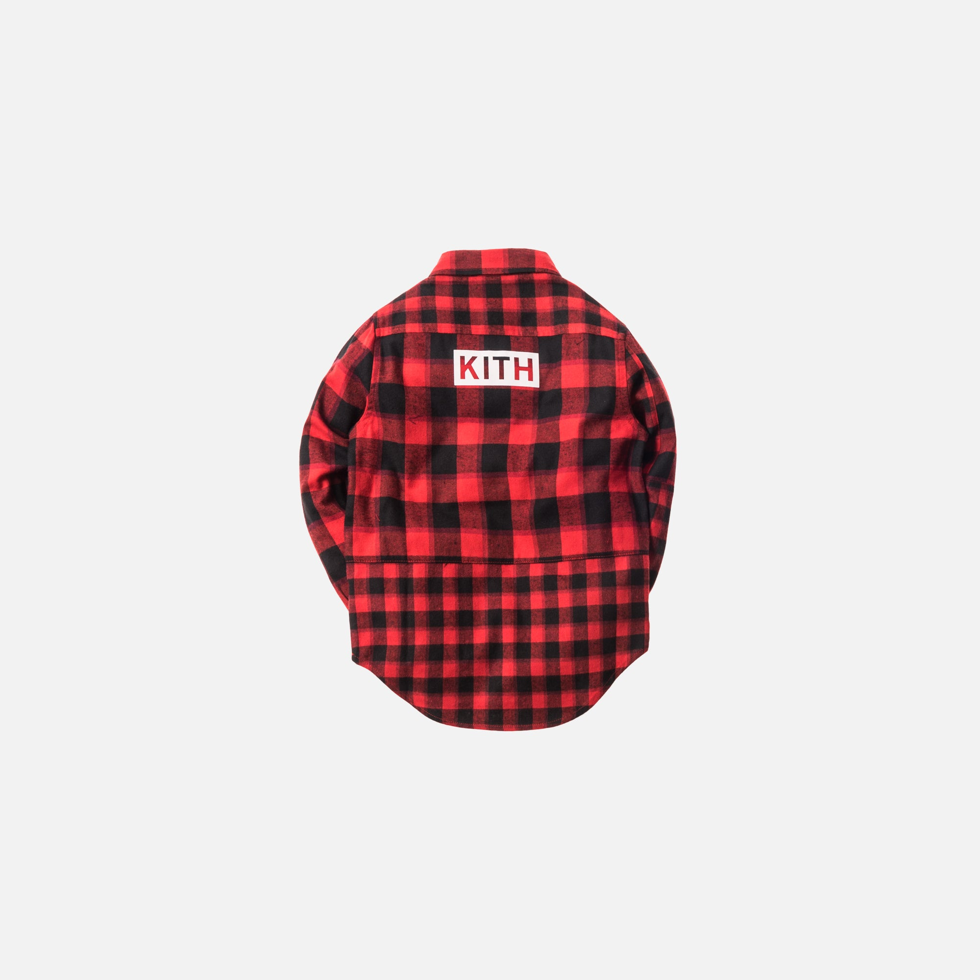 Kith Kids Mixed Plaid Ginza Button-Up - Red