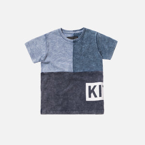 Kith Kids Tri-Block Tee - Light / Medium / Dark Indigo