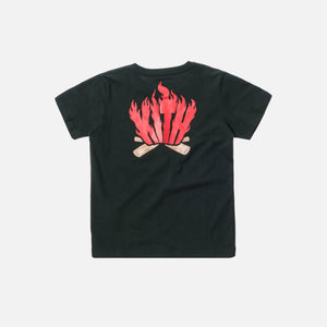 Kids Flames Tee - Forest Green
