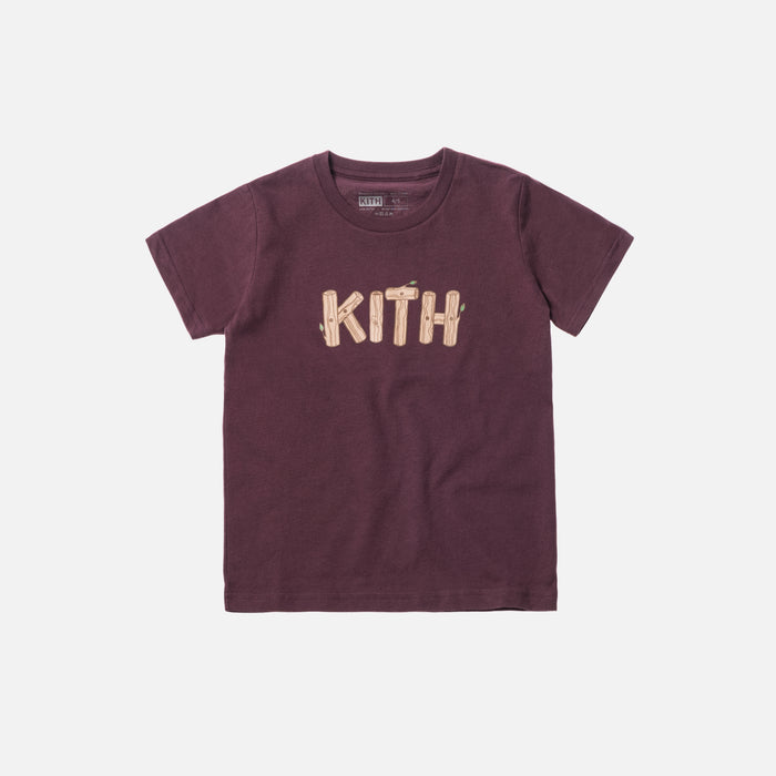 Kids Flames Tee - Plum