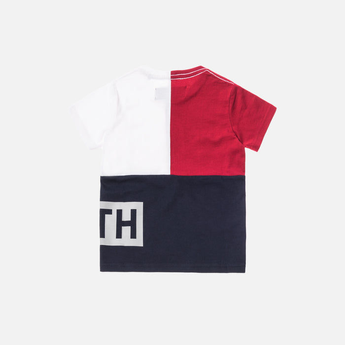 Kith Kids Tri-Block Tee - Red / White / Navy