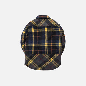 Kith Kids Mixed Plaid Ginza Shirt - Dark Yellow / Navy