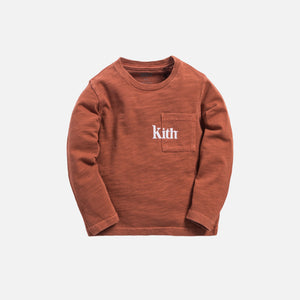 Kith Kids Quinn L/S Pocket Tee - Clay Image 1