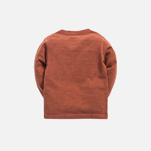 Kith Kids Quinn L/S Pocket Tee - Clay Image 3