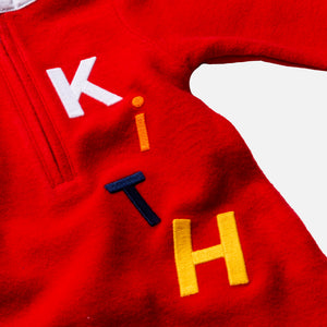 Kith Kids Toddlers Reverse Williams Coverall - Barbados Cherry