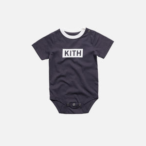 Kith Kids Toddlers Classic Logo Ringer Onesie - Heather Grey