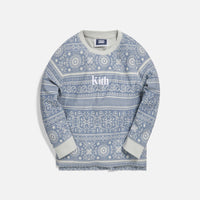 Kith Kids Quincy L/S Crew - Light Wash Thumbnail 1