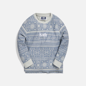Kith Kids Quincy L/S Crew - Light Wash Image 1