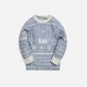 Kith Kids Baby Quincy L/S Crew - Light Wash Image 1