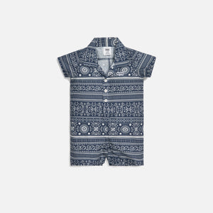 Kith Kids Baby Shay Seersucker Coverall - Navy / Multi Image 1