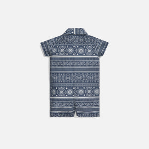Kith Kids Baby Shay Seersucker Coverall - Navy / Multi Image 2
