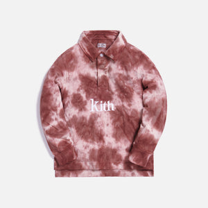 Kith Kids Taylor Tie Dye Rugby - Mauve / Multi Image 1
