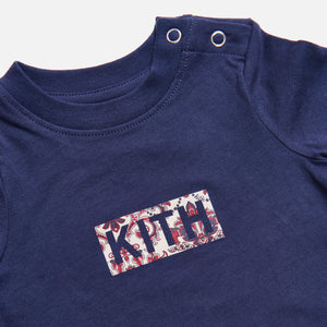 Kith Kids Baby Printed Classic Logo Onesie - Navy Image 3