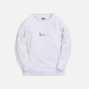 Kith Kids Applique L/S Tee - Heather Grey